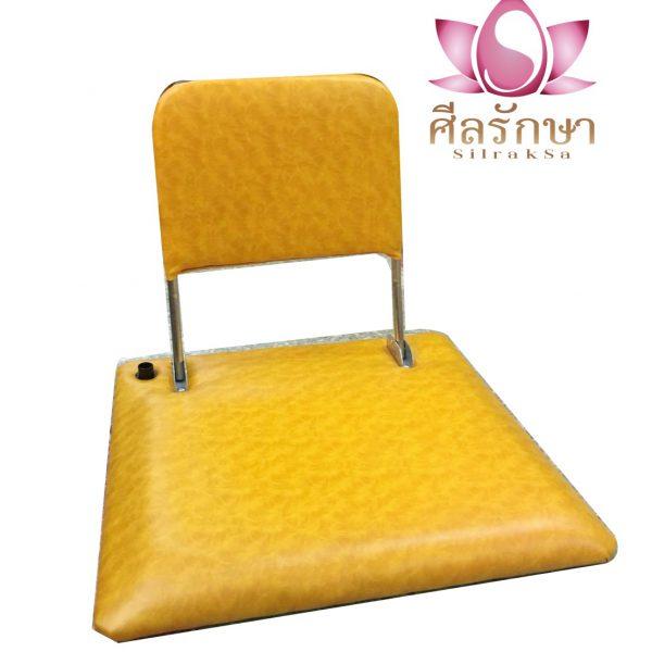 เบาะนั่งสมาธิ พนักพิง สีเหลือง