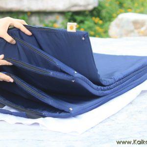 ที่นอนปิกนิกยางพารา รุ่น M - สีกรม ผ้ากันน้ำ กันไรฝุ่น
