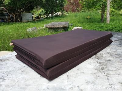 ที่นอนปิกนิกยางพารา รุ่น XL- สีน้ำตาล ผ้ากันน้ำ กันไรฝุ่น