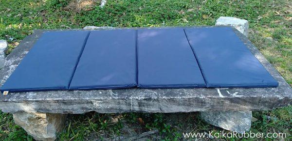 ที่นอนปิกนิกยางพารา รุ่น L - สีกรม ผ้ากันน้ำ กันไรฝุ่น
