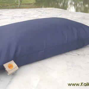 หมอนยางพาราเพื่อสุขภาพ Size-M สีกรมผ้ากันน้ำ กันไรฝุ่น