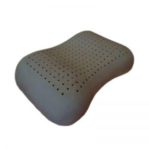 หมอนยางพารา แท้ 100 % ผสมชาโคล Heart Pillow Charcoal พร้อมปลอก ซับในตาข่าย Ultimatecare Latex Pillow