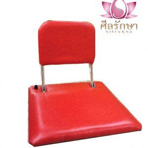 เบาะนั่งสมาธิ พนักพิง สีแดง